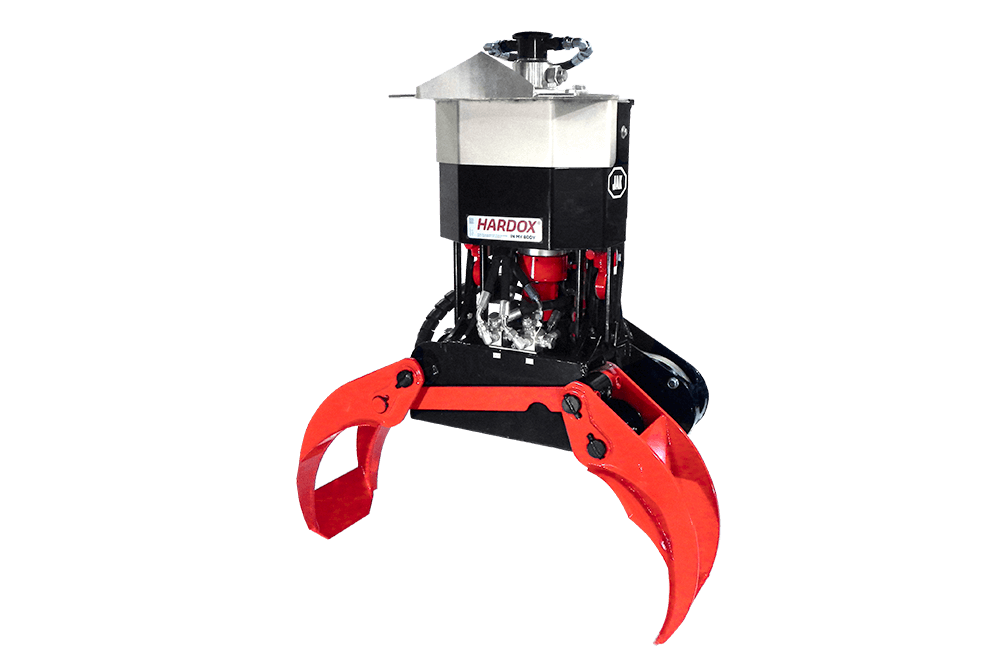 No hoses or electric wires to restrict grapple rotator